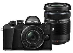 Appareil photo hybride Olympus OM-D E-M10 Mark II + 2 objectifs (57€ en superpoints)