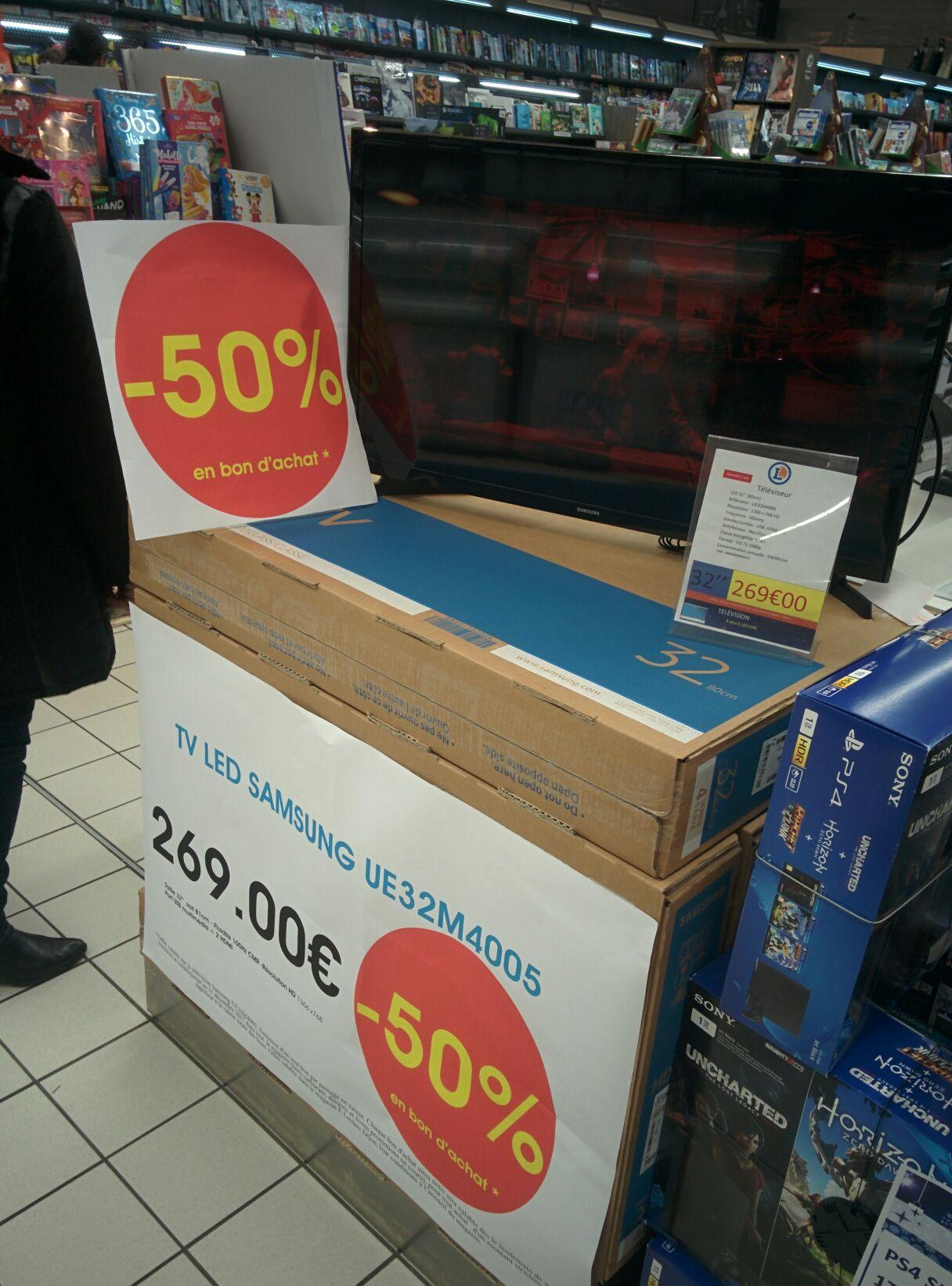 "TV 32"" Samsung UE32M4005 (via 134.5€ en bon d'achat) - Dijon (21)"