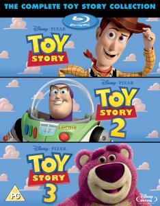 Triple pack Toy Story 1/2/3 (3ème film en Anglais)+ disque bonus en Blu-ray