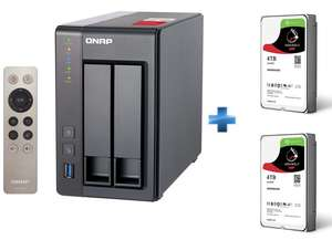 Serveur NAS Qnap TS-251 + 2 Disques durs Seagate IronWolf 4 To