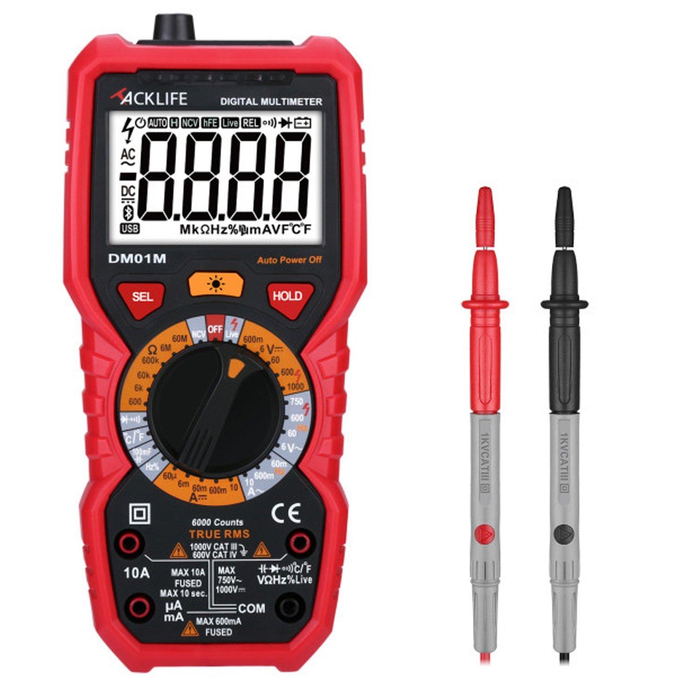 Multimètre Tacklife DM01M Avancé TRMS 6000 Points (Vendeur tiers)