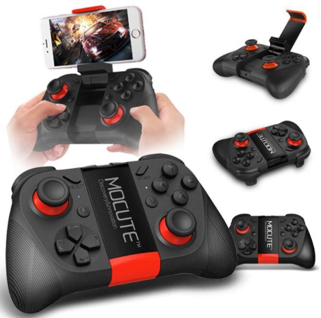Manette Sans-fil Mocute 050 Noir avec Modes Smartphones & TV Box compatible Android, iOS & Windows PC - Bluetooth