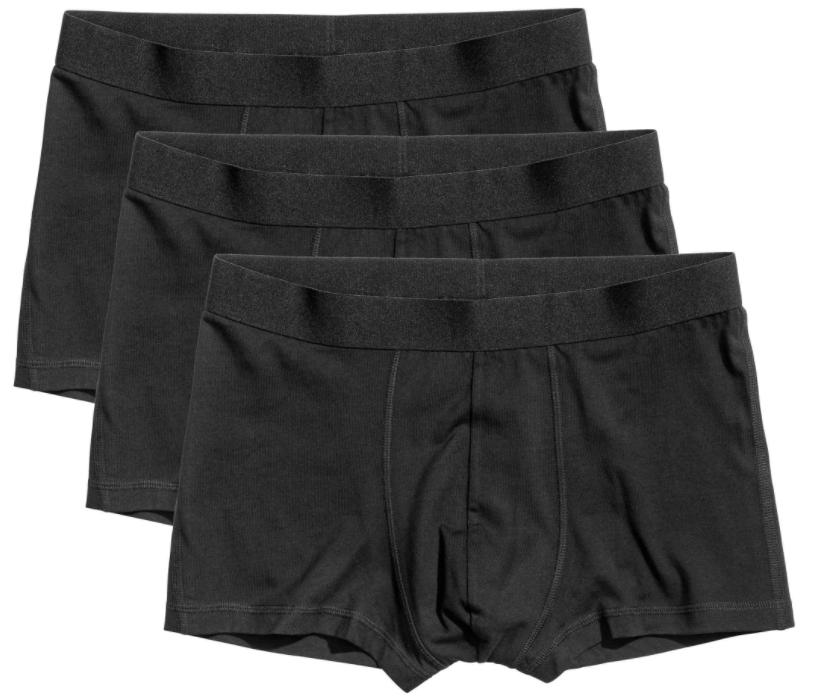 Lot de 3 boxers homme courts - coton bio, taille XS