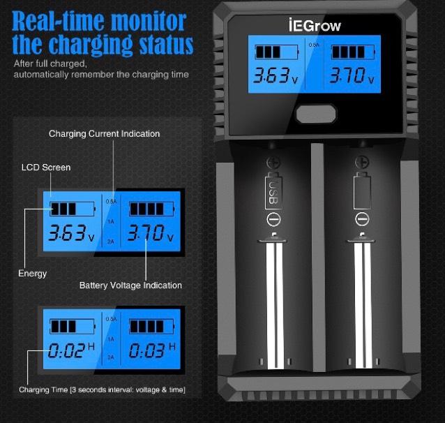 Chargeurs de piles Batterie iEGrow LCD (Vendeur tiers)