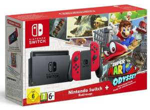 Nintendo Switch + 1 Paire De Joy-Con Rouge + Super Mario Odyssey (+ 78€ en superpoints)