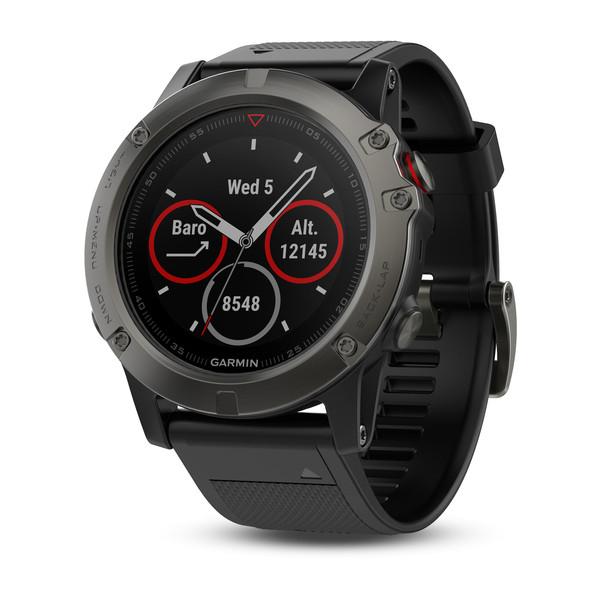Montre GPS multisport Garmin Fénix 5X Sapphire - Gris