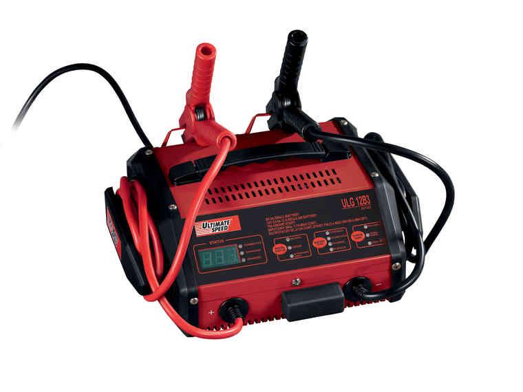 Chargeur de batterie pour moto/voiture - 6/12V (8 à 180Ah)