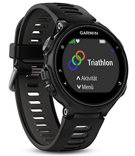 Montre GPS Garmin Forerunner 735XT avec cardio poignet - noire et grise