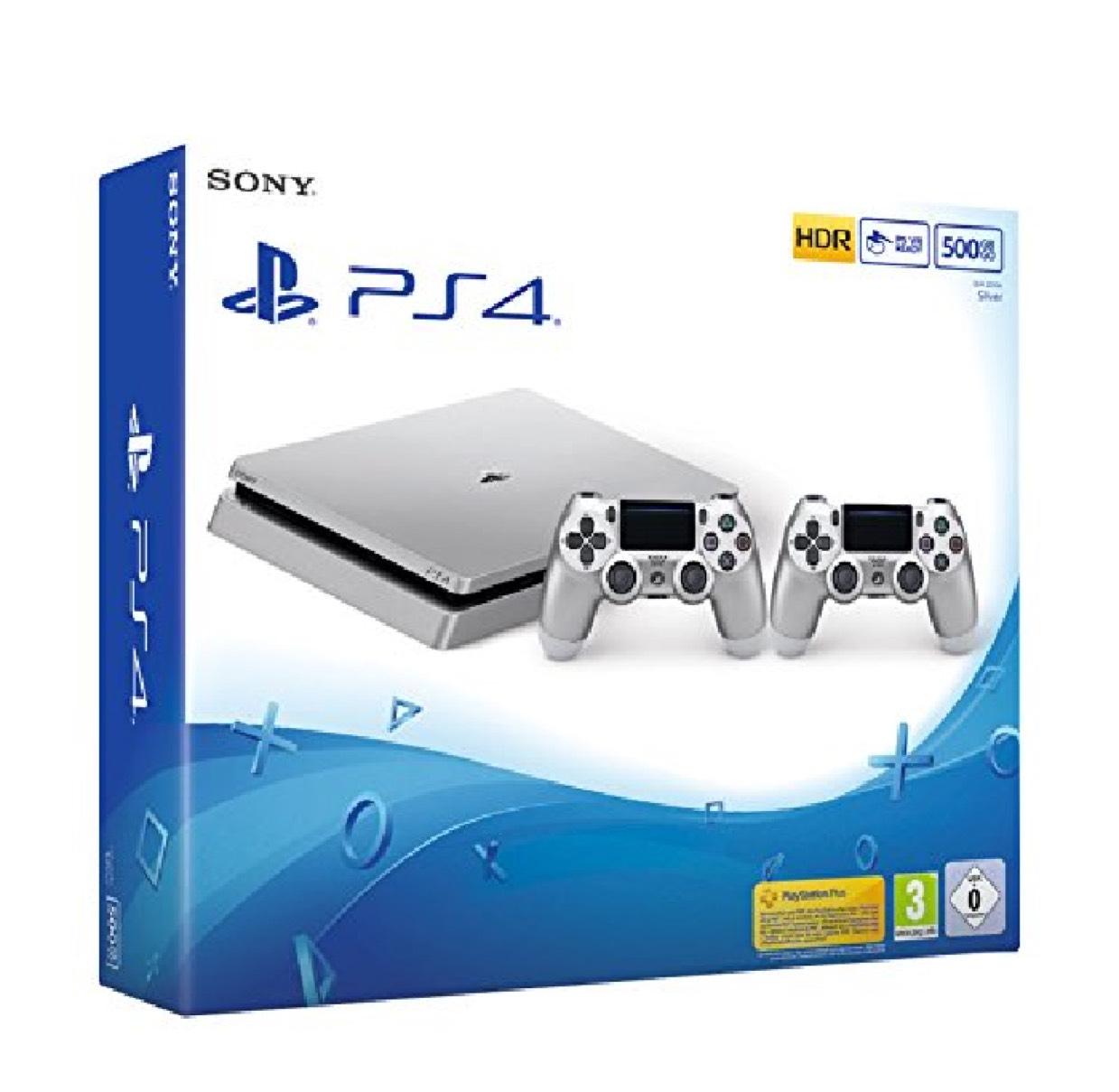 Pack Console PS4 Slim (Silver) - 500 Go + 2ème Manette