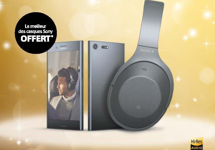 """Smartphone 5.5"""" Sony Xperia XZ Premium - 64 Go + Casque Sony WH-1000XM2 (Via ODR 100€ + Formulaire)"""