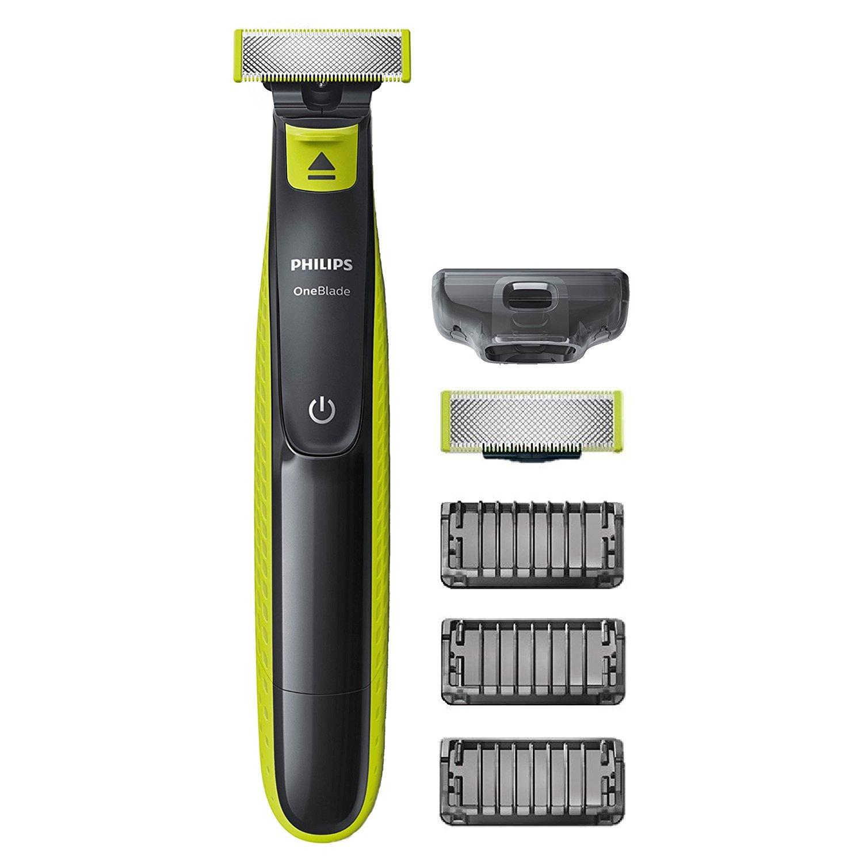 Rasoir Philips QP2520/30 OneBlade avec lame de rechange + 3 sabots barbe