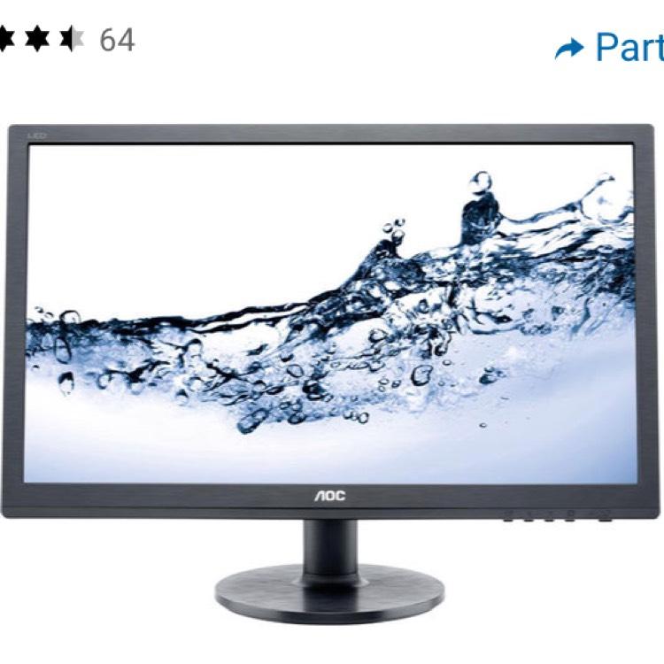 """Écran PC 24"""" AOC e2460Sh - full HD, 1920x1080, 1 ms chez Digitec (frontaliers Suisse)"""
