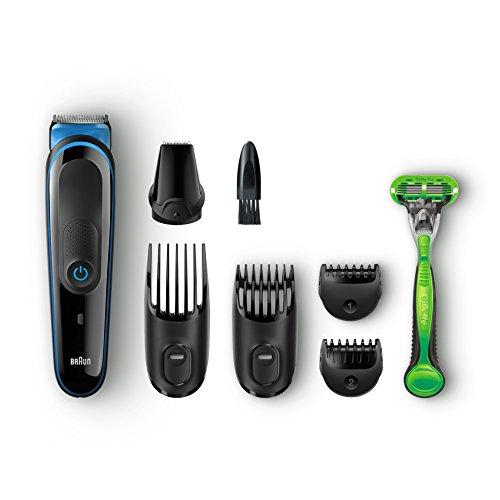Tondeuse Barbe/Cheveux 7-en-1 Braun MGK3040 pour Hommes + Rasoir Gillette Body