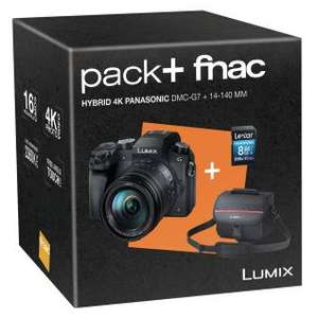 Appareil photo hybride Panasonic Lumix DMC-G7 + 14-140 mm ASPH + Carte Mémoire SDHC 8 Go
