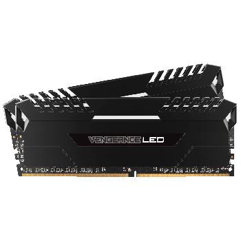 Kit mémoire RAM DDR4 Corsair Vengeance LED Blanche 32Go (2x16Go) - 2666Mhz, CL16