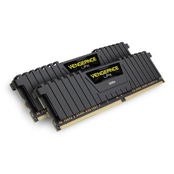 Barrettes de mémoire DDR4 Corsair Vengeance LPX Black DDR4 2 x 8 Go 3000 MHz CAS 15