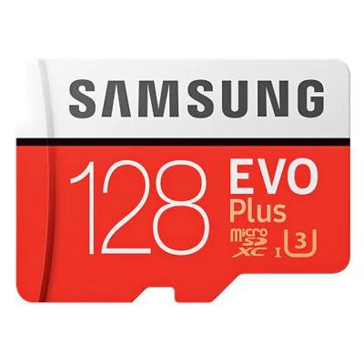 Carte microSDXC Samsung EVO Plus U3 (80-100 Mo/s en lecture-écriture) - 128 Go