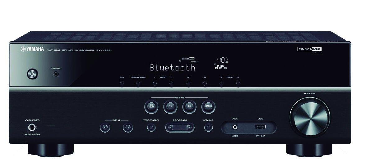 Compatible Yamaha RX-V383 - 5.1, Ultra HD 4K, HDR et Dolby Vision