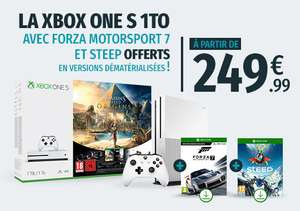 Console Xbox One S - 1 To + AC: Origins + Steep + Forza Motorsport 7 + Rainbow Six Siege
