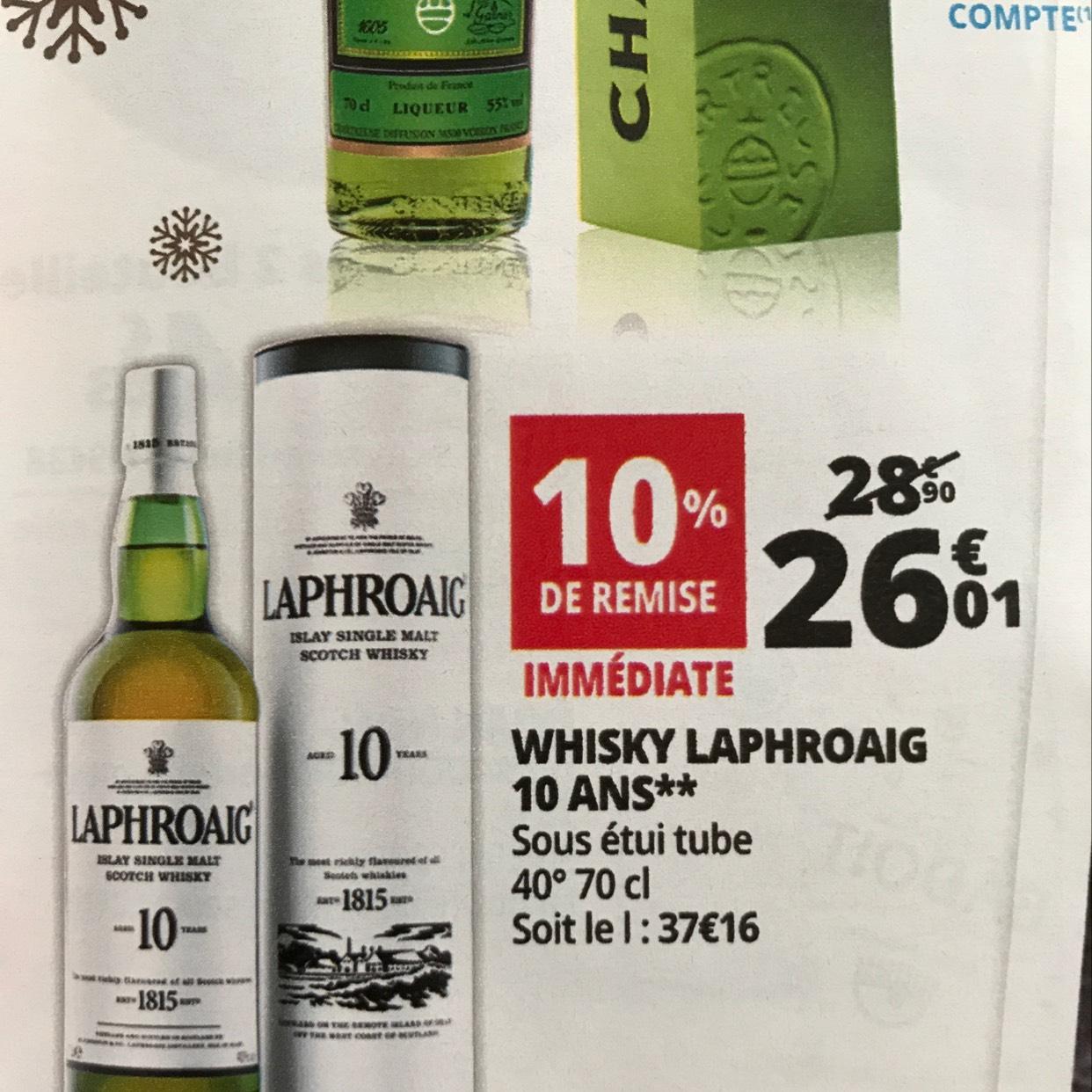Whisky Laphroaig - 10 ans 70cl