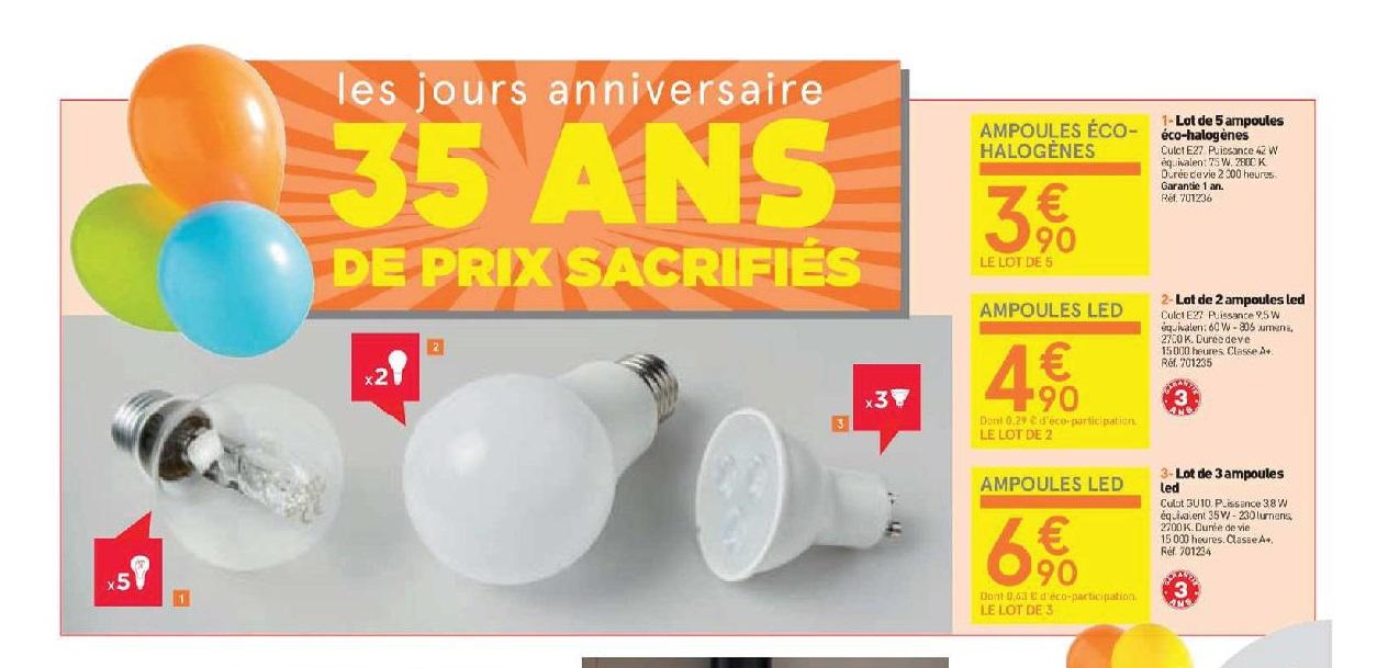 lot de 3 ampoules LED GU10