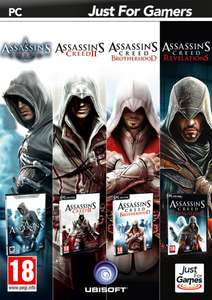 Pack 4 jeux Assassin's Creed sur PC (1, 2, Brotherhood, Revelations)
