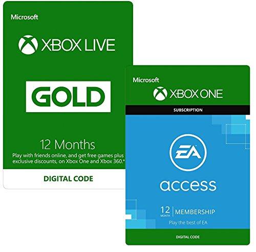 Sélection d'abonnements Xbox Live Gold en promotion (dématérialisés) - Ex : 12 mois Gold + 12 mois EA Access