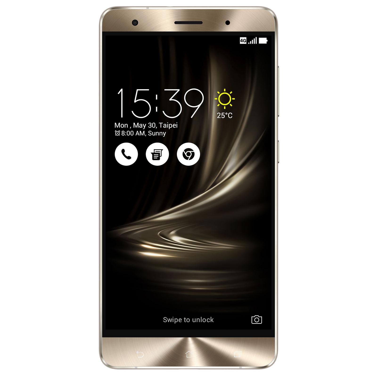 """Smartphone 5.7""""Asus Zenfone 3 Deluxe ZS570KL Argent - Full HD, Snapdragon 821, RAM 6 Go, ROM 64 Go"""