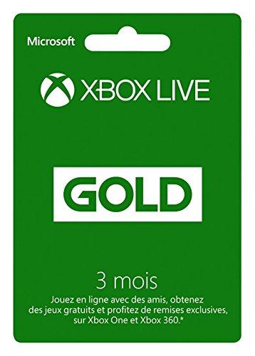 Abonnement Xbox Live Gold - 3 mois à 11.99€