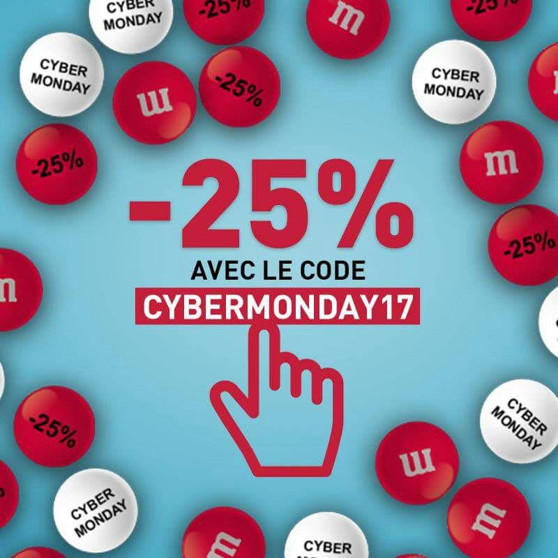 25% de réduction sur les M&M's personnalisés
