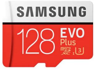 Carte microSDXC Samsung EVO Plus U3 (80 à 100Mo/s en Lecture / Ecriture) - 128 Go