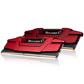Barrettes mémoire DDR4 G.Skill Ripjaws V Red DDR4 2 x 8 Go 2133 MHz CAS 15