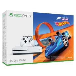 Console Microsoft Xbox One S 500 Go + Forza Horizon 3 + Hot Wheels DLC (Frontaliers Suisse)