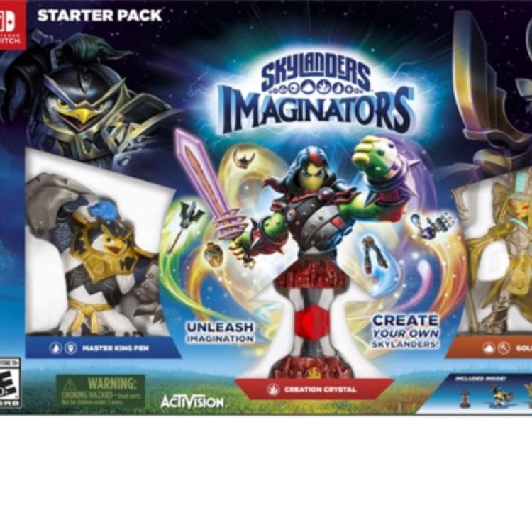 Starter Pack Skylanders Imaginators SWITCH : Master King Pen + Creation Crystal + Golden Queen