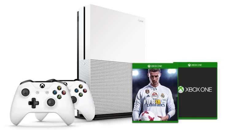 Console Xbox One S - 1 To + 1 jeu au choix + FIFA18 + 2ème manette