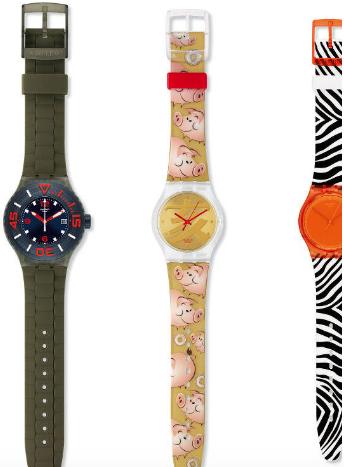 Coffret de 3 montres Swatch Vintage Box 2017 - bleu, orange ou rouge