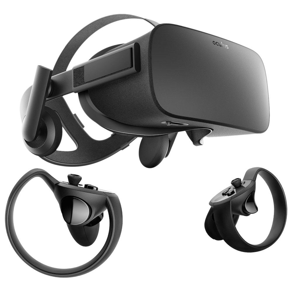 Casque de réalité virtuelle Oculus Rift + contrôleurs Touch + 2 capteurs