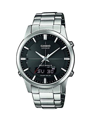 Montre Homme Casio Wave Ceptor LCW-M170D-1AER - Solaire, radio pilotée, verre saphir, bracelet en acier inoxydable massif