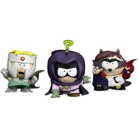 Pack 3 Figurines South Park : Le Coon, Mysterion, Professeur Chaos