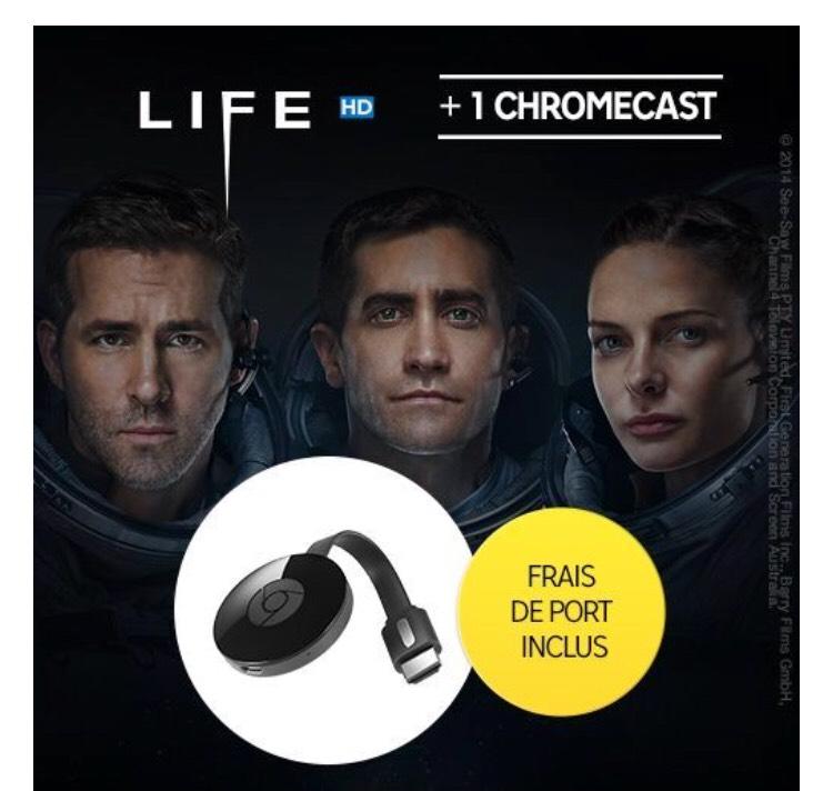 Clé HDMI Google Chromecast 2 + LIFE en HD (location 48h)