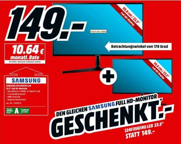"""Sélection d'articles en promotion -Ex : pack de 2 écrans 23.5"""" Samsung S24F356FHU FreeSync - (Frontaliers Allemagne)"""