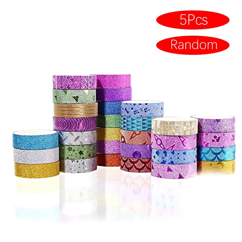 Lot de 5 Rouleaux de Scotch Coloré pour Cadeaux & Décoration - 5 x 3m (Frais de livraison inclus)