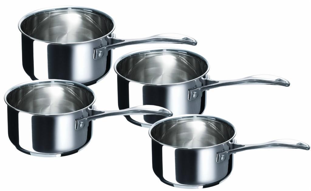 Set de 4 casseroles inox Beka Chef Serie (14, 16, 18 et 20 cm) tous feux dont induction