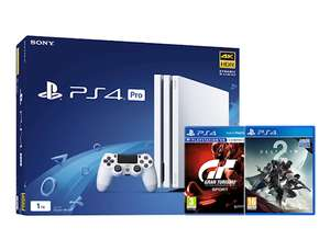 Console Sony Playstation 4 Pro - 1 To (Blanche) + GT Sport + Destiny 2