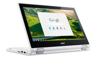 "PC 2-en-1 Tactile 11"" Acer Chromebook CB5-132T Blanc - Intel Celeron N3150, RAM 4 Go, SSD 32 Go, Chrome OS"