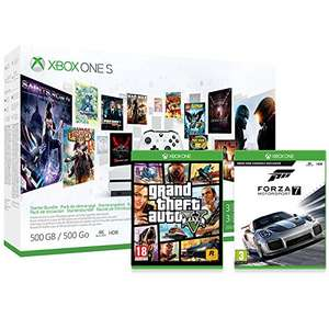 Pack Console Xbox One S 500Go 3M Game Pass + 3M LIVE + GTA V + Forza MotorSport 7