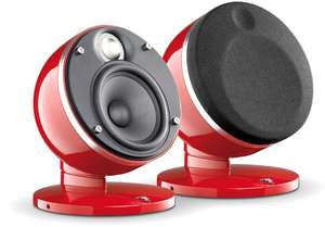 Paire d'Enceintes Satellite HiFi Focal Dome - Rouge