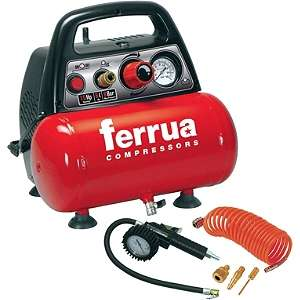 Mini-Compresseur Electrique Portatif Ferrua New Vento OL195/6 moteur 1.5 HP - 6L