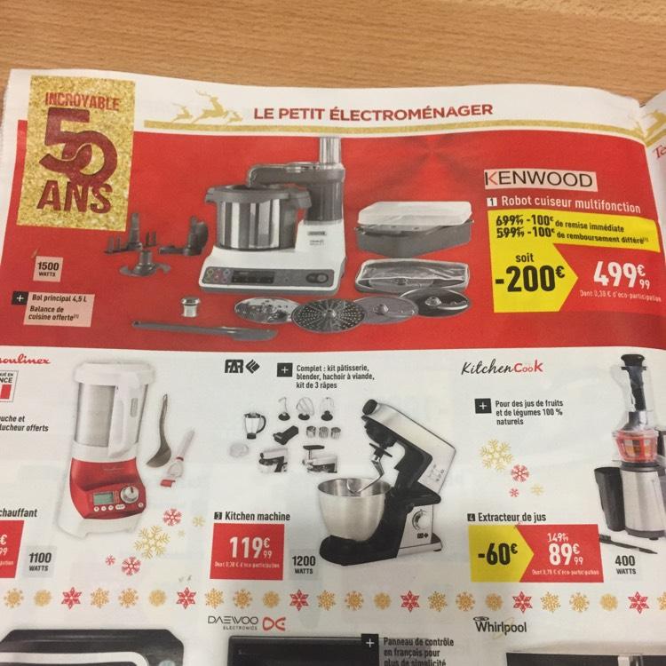 Robot cuiseur multifonction Kenwood + bol principal 4,5L + balance de cuisine offerte