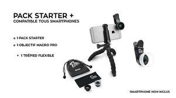 Pack d'objectifs Pixter  (3 objectifs) + trépied flexible